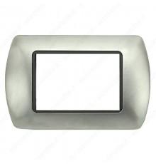 Placche Compatibili METALLO Bticino LIVING International 3 4 7 posti acciaio satinato