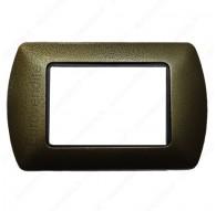Placche Compatibili METALLO Bticino LIVING 3 4 7 posti bronzo goffrato