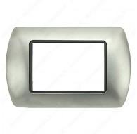 Placche Compatibili METALLO Bticino LIVING International 3 4 7 posti Nickel satinato