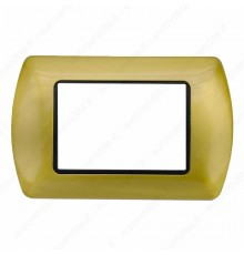 Placche Compatibili METALLO Bticino LIVING International 3 4 7 posti Oro spazzolato