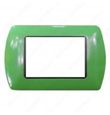 Placche Compatibili METALLO Bticino LIVING International 3 4 7 posti verde lime