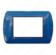 Placche Compatibili METALLO Bticino LIVING International 3 4 7 posti blu