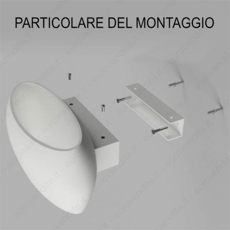 APPLIQUE IN GESSO CERAMICO decorativo DI FORMA BOMBATA PER 1XE27 CSF550