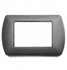 Placche Compatibili METALLO Bticino LIVING International 3 4 7 posti grigio ferro