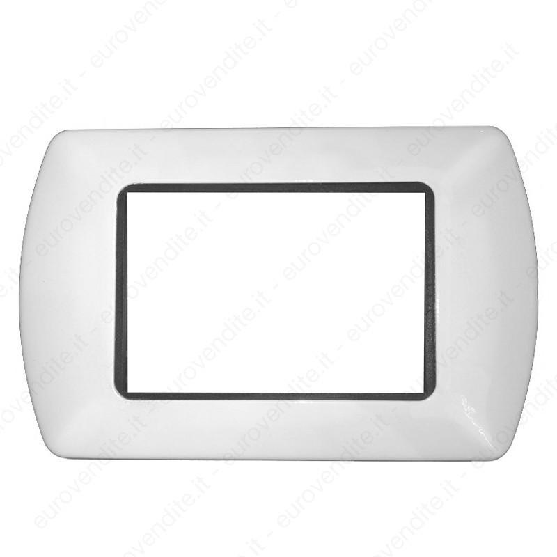 Placche Compatibili METALLO Bticino LIVING International 3 4 7 posti Bianco