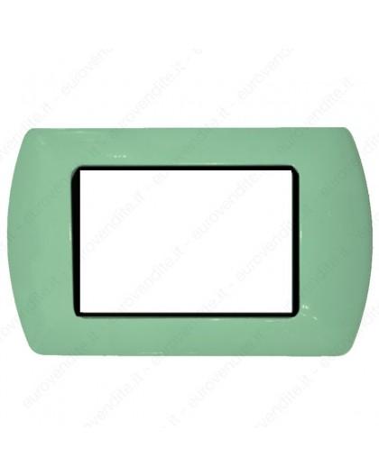 Placche Compatibili METALLO Bticino LIVING 3 4 7 posti verde chiaro