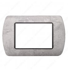 Placche Compatibili METALLO Bticino LIVING 3 4 7 posti marmo chiaro