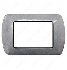 Placche Compatibili METALLO Bticino LIVING 3 4 7 posti granito