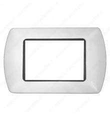 Placche Compatibili METALLO Bticino LIVING 3 4 7 posti colore Bianco