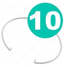 10 molle in acciaio laccate bianche per porta faretti in gesso