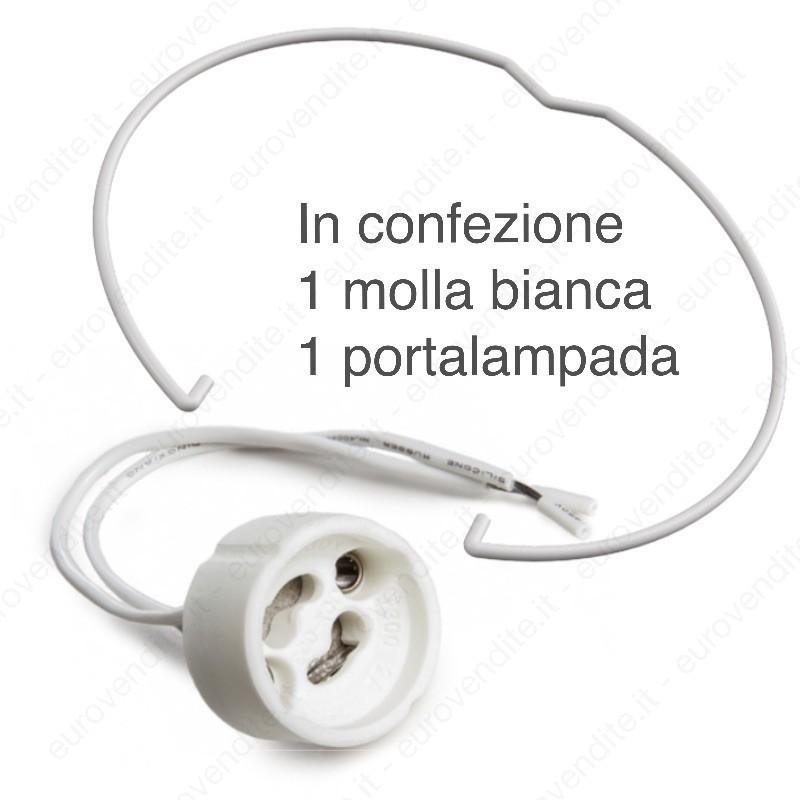PORTA FARETTI IN GESSO CERAMICO DI FORMA QUADRATA CON PLEXIGLAS C13