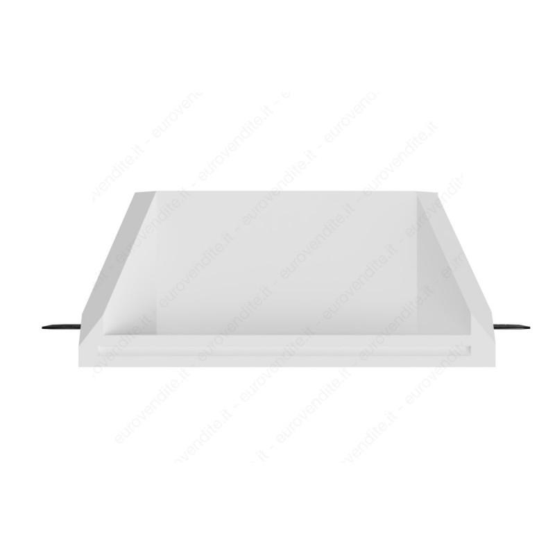 Faretto in gesso a scomparsa per contro soffitte con plexiglass satinato