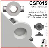 PORTA FARETTO IN GESSO CERAMICO DI FORMA ROTONDA SLIM CSF015