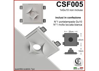 PORTA FARETTO IN GESSO CERAMICO CON EFFETTO TAGLIO CSF005