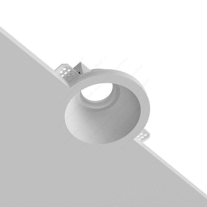 PORTAFARETTO IN GESSO ROTONDO CON EFFETTO IMBUTO CSF065 PER GU10 LED