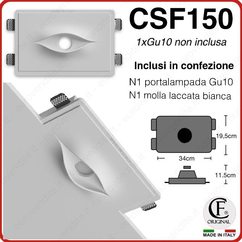 PORTA FARETTO DOPPIO IN GESSO CERAMICO DI FORMA AD OCCHIO CSF150