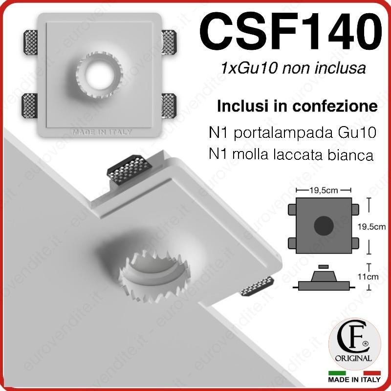 PORTA FARETTO IN GESSO CERAMICO CON EFFETTO TAGLIO CSF140