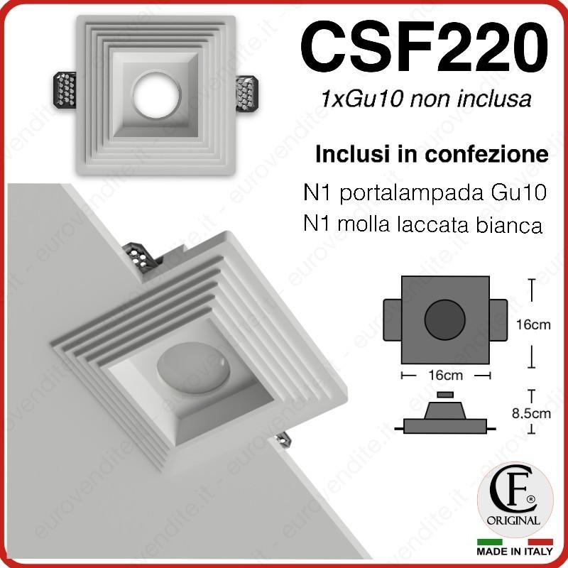 PORTA FARETTO IN GESSO CERAMICO CON EFFETTO SCALINI ESTERNO CSF220