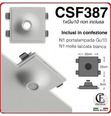 Portafaretto in gesso di forma conica pendente Per Gu10 CSF387