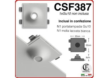 PORTA FARETTO IN GESSO DA INCASSO DI FORMA CONICA PER GU10 CSF387