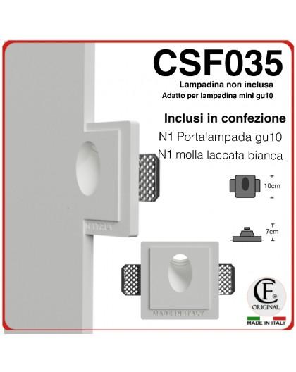 SEGNAPASSI IN GESSO CERAMICO CON EFFETTO LUCE INCLINATO 1XGU10 LED CSF035
