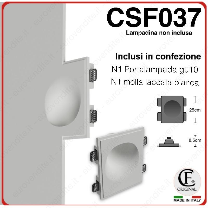 SEGNAPASSO IN GESSO CERAMICO A SCOMPARSA CON EFFETTO LUCE INCLINATO 1XGU10 LED CSF037