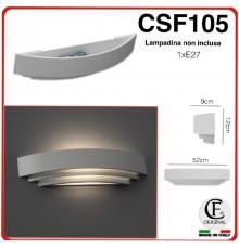 Applique in gesso di forma stondata 1 x E27 CSF105