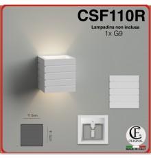 Applique da parete in gesso a cubo doppia emissione g9 verniciabile lampada ip20