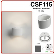 Applique in gesso moderno a muro di forma ovale up & down CSF115