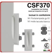 SEGNAPASSO IN GESSO CERAMICO DA INCASSO PER CARTONGESSO CON EFFETTO LUCE GOCCIA CSF370