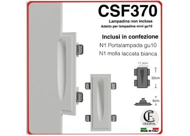 SEGNAPASSI IN GESSO CERAMICO A FILO CON EFFETTO LUCE GOCCIA CSF370