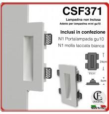 Segnapasso in gesso CSF371 di forma squadrata con luce mini gu10