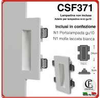 SEGNA PASSO IN GESSO CERAMICO CON EFFETTO LUCE GOCCIA CSF370