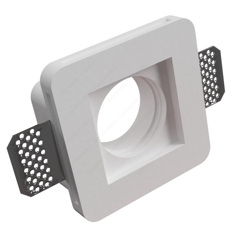 10 faretti in gesso da incasso a scomparsa quadrati per lampade led a scomparsa 10 pezzi