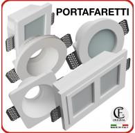 Porta Faretto in Gesso da Incasso led GU10 portalampada ceramico incluso