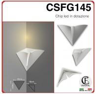 Applique in gesso ceramico con led incluso di forma classico luce calda, naturale e fredda