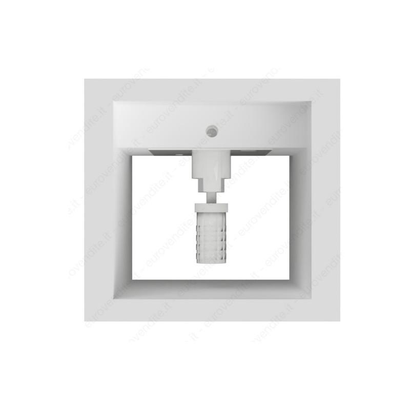Applique da parete in gesso decorativo a cubo doppia emissione g9 verniciabile lampada ip20