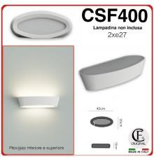 Applique in gesso contemporaneo di forma ovale up & down CSF400