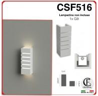 APPLIQUE IN GESSO CERAMICO DI FORMA RETTANGOLARE PER 1XG9 CSF516