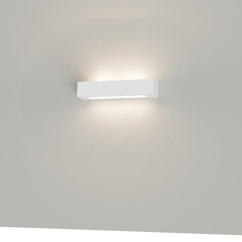 APPLIQUE IN GESSO CERAMICO decorativo a parte DI FORMA RETTANGOLARE PER 2 E14 CSF528