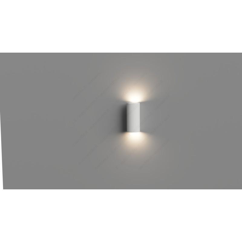 APPLIQUE IN GESSO CERAMICO A MURO VERNICIABILE ROTONDO LED GU10 CSF1100A