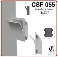 APPLIQUE IN GESSO CERAMICO CON COPERTURA A SBALZO 1XE27 CSF055