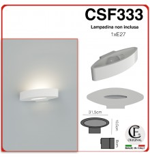 APPLIQUE IN GESSO CERAMICO CON DOPPIA APERTURA A LED X1E27