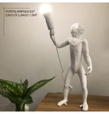 Lampada da tavolo di design scimmia Monkey con porta lampada E27