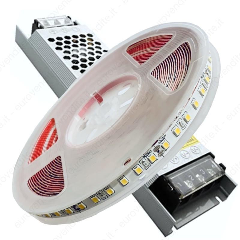 Kit striscia luci led 10M 24V 1200 led luce calda naturale fredda alimentatore incluso