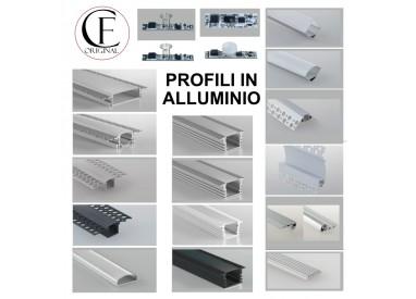 Profili in alluminio per strisce led cover opaca in barre da 2 metri