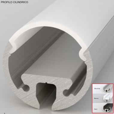 Profilo in alluminio per strisce led cover opaca in barre da 2 metri cilindrico