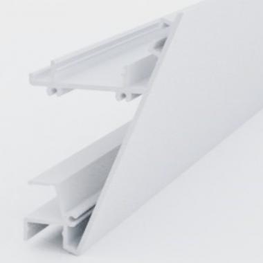 Profilo in alluminio da parete per strisce led doppia emissione barre da 2 metri
