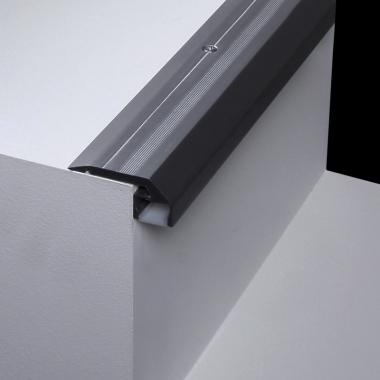 Profilo in alluminio per strip led da posizionare negli scalini