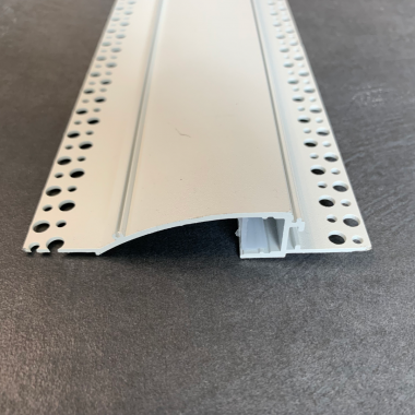 Profilo in alluminio bianco per strip led effetto luce a cascata